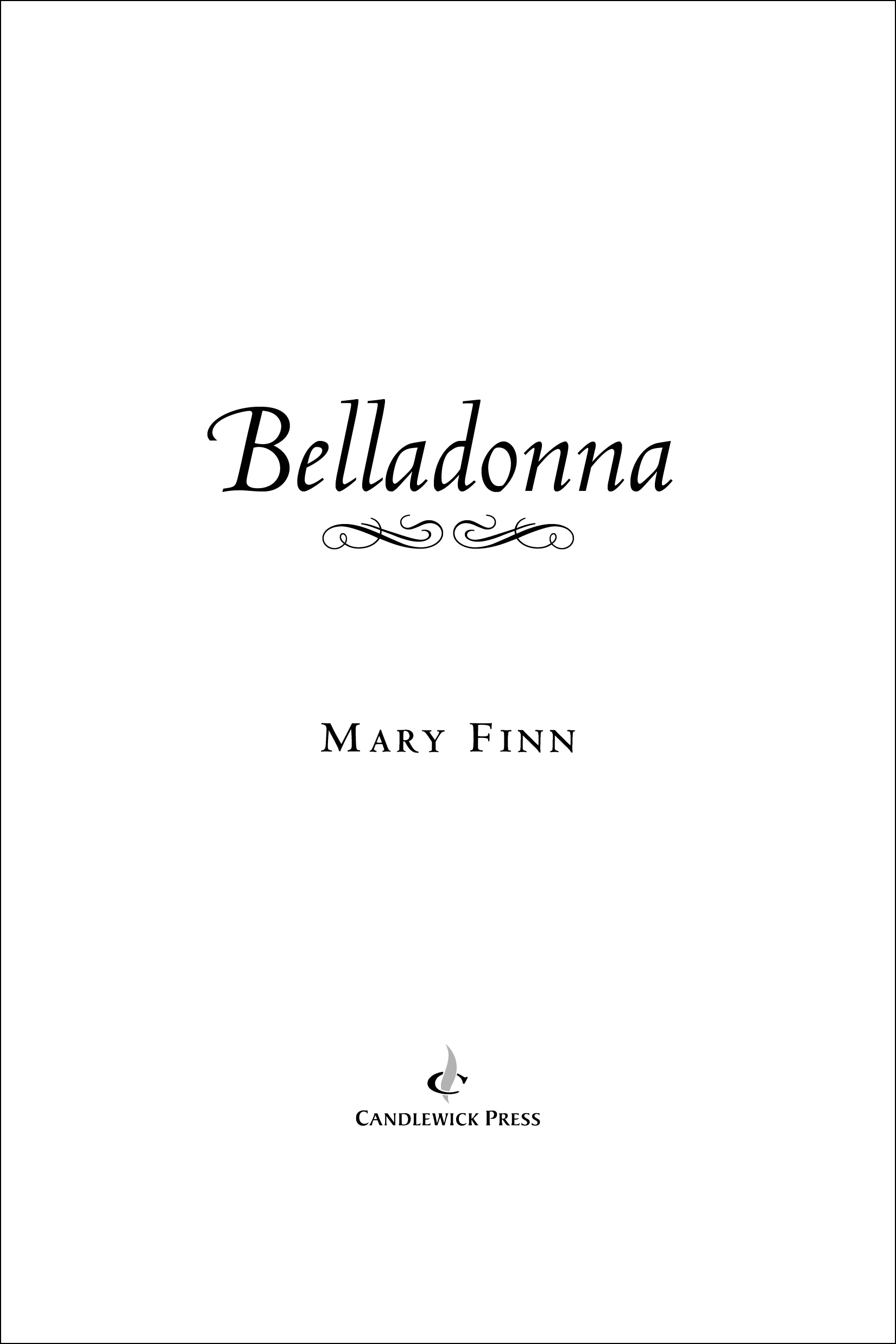 Title page for BELLADONNA