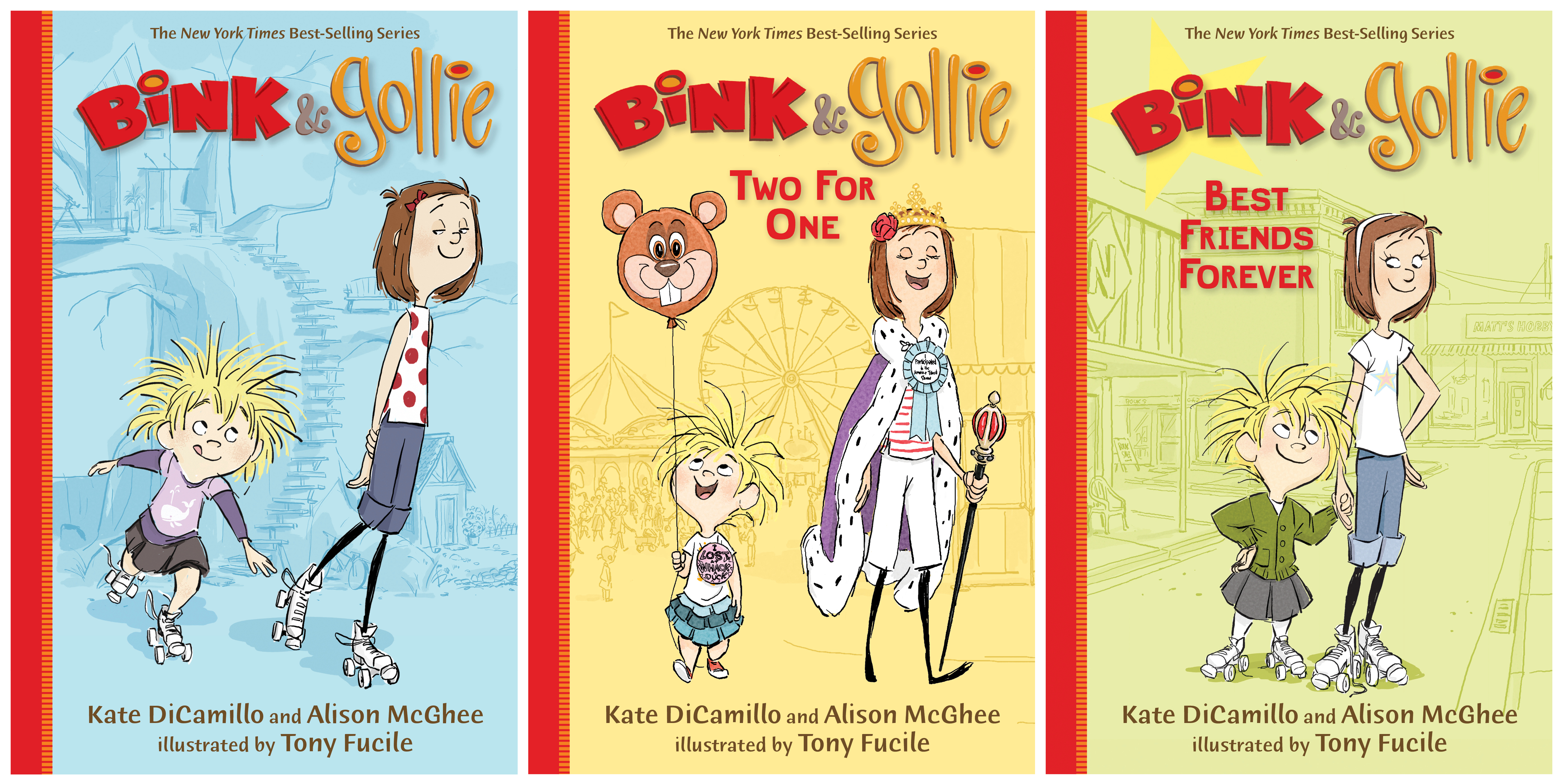 Paperback covers for BINK & GOLLIE