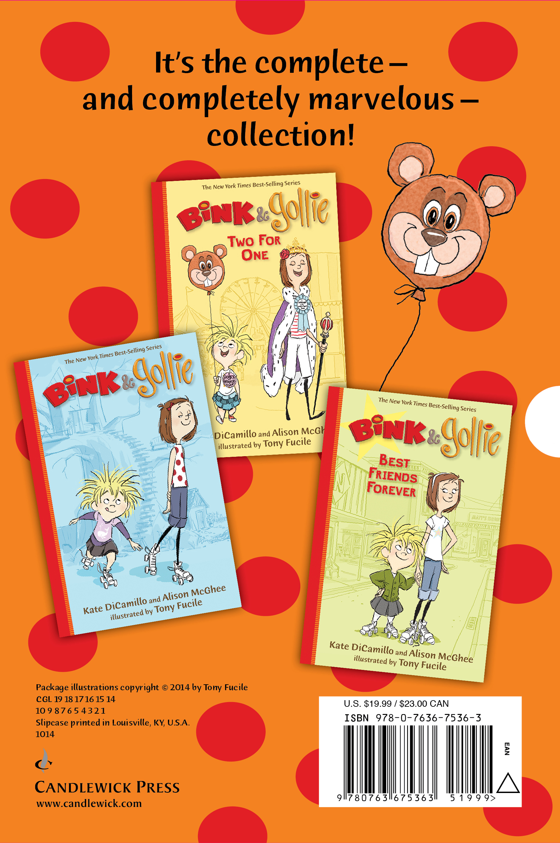 Slipcase back for BINK & GOLLIE: THE COMPLETELY MARVELOUS COLLECTION