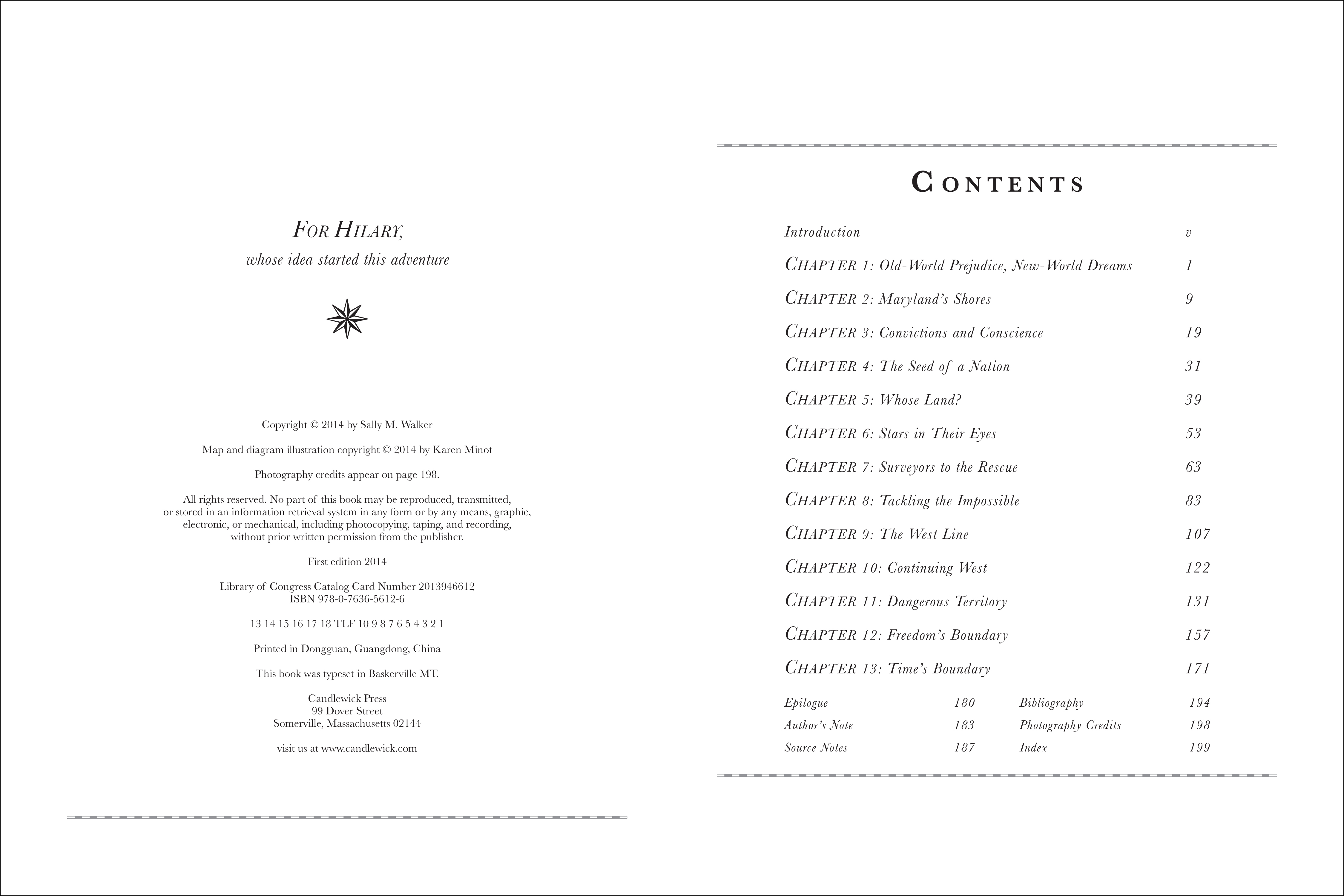 Table of contents for BOUNDARIES