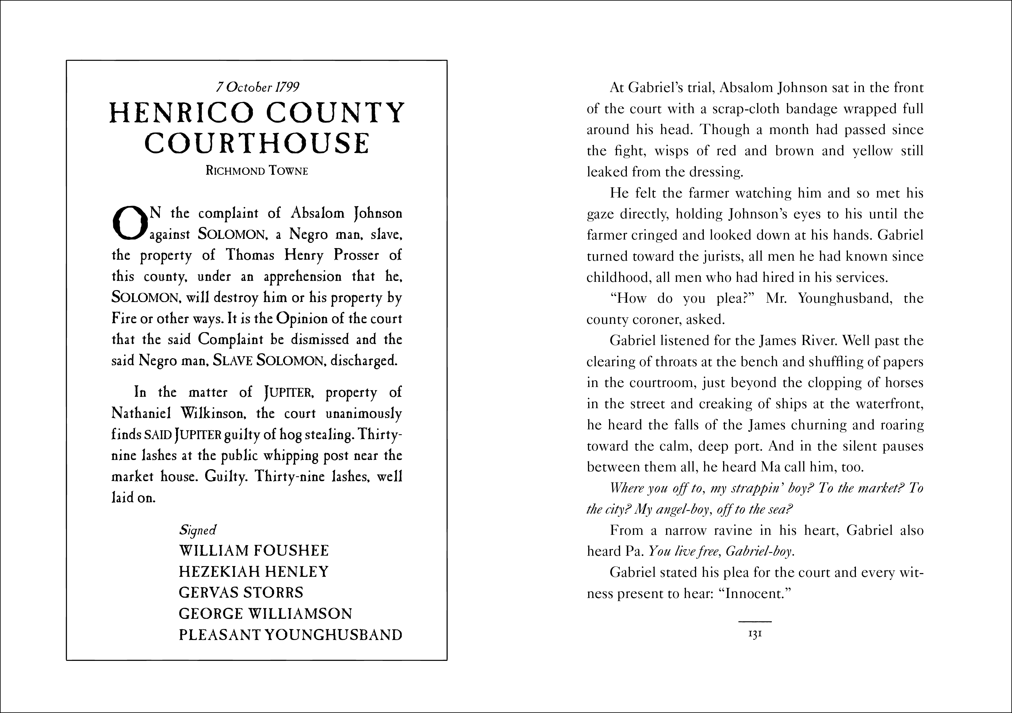 Court document from COME AUGUST, COME FREEDOM