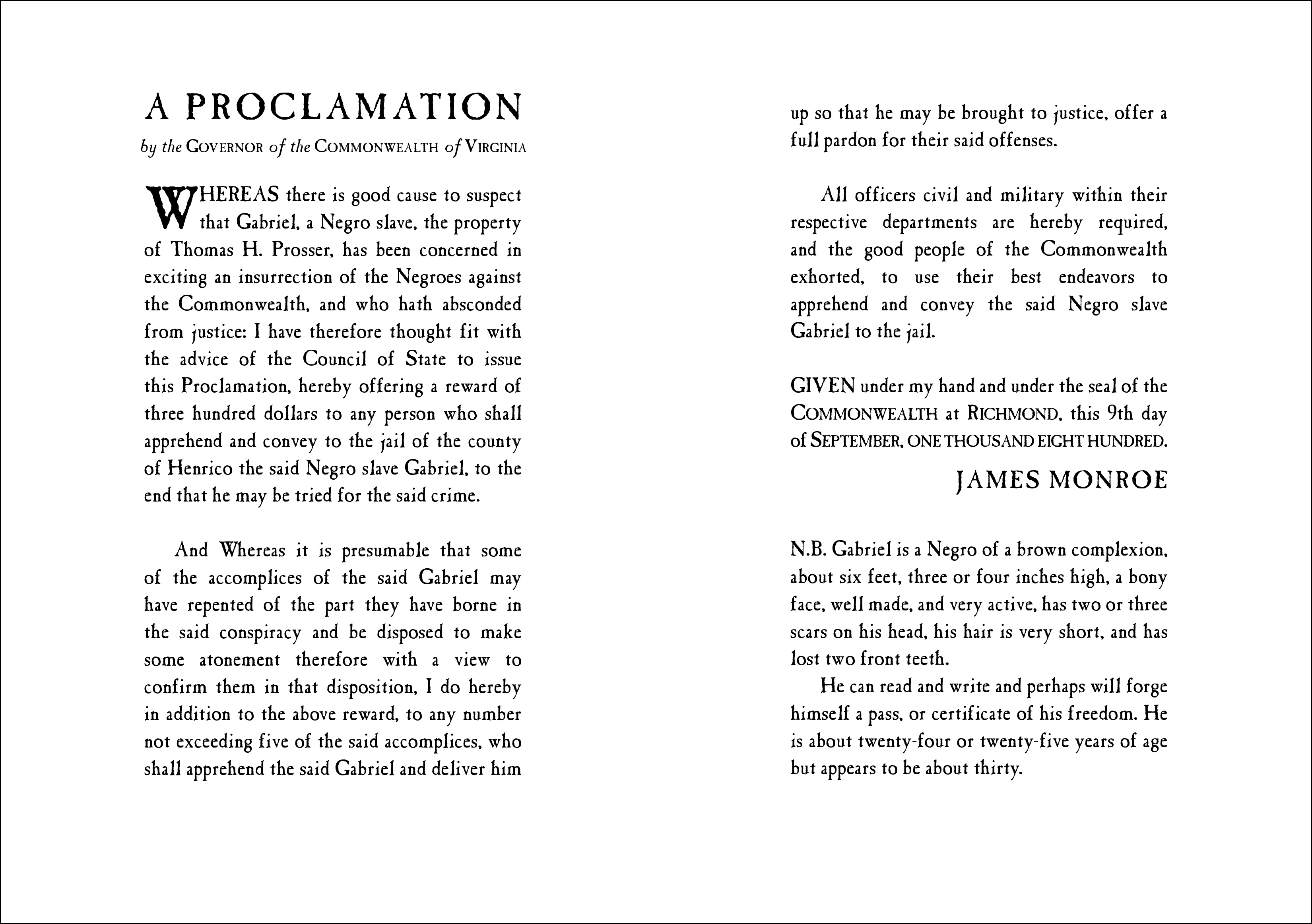 Proclamation from COME AUGUST, COME FREEDOM