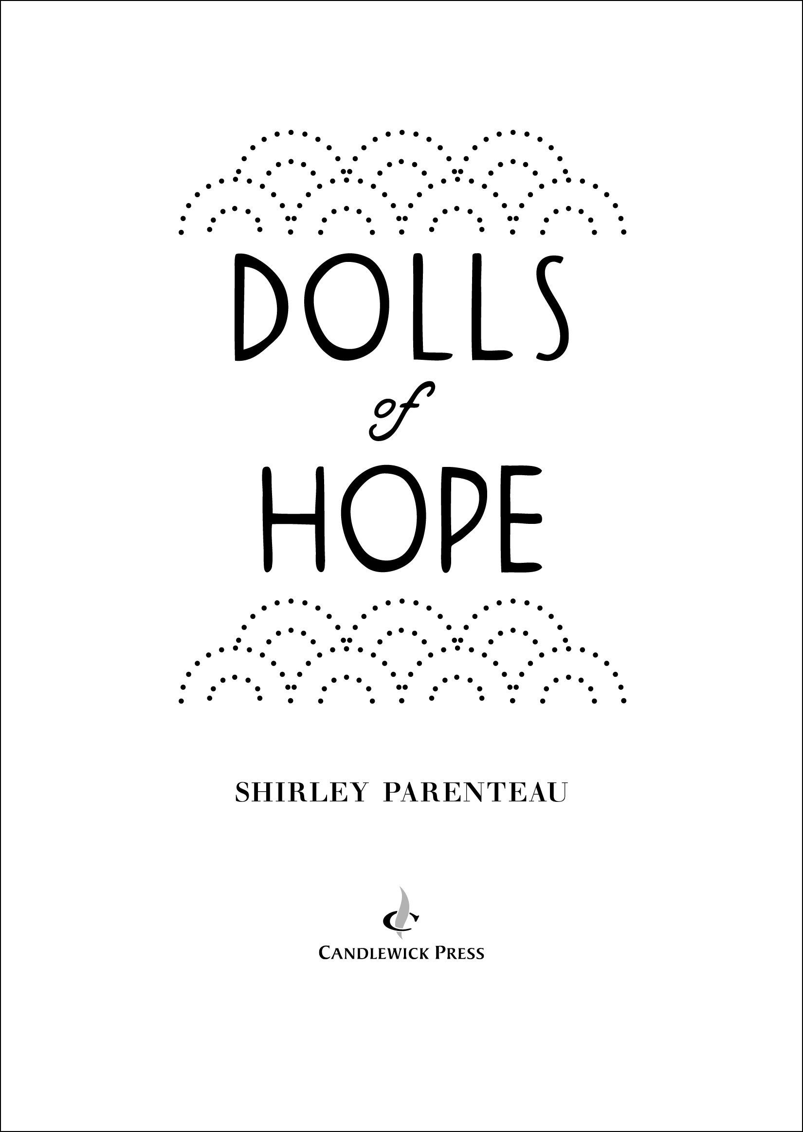 Title page for DOLLS OF HOPE