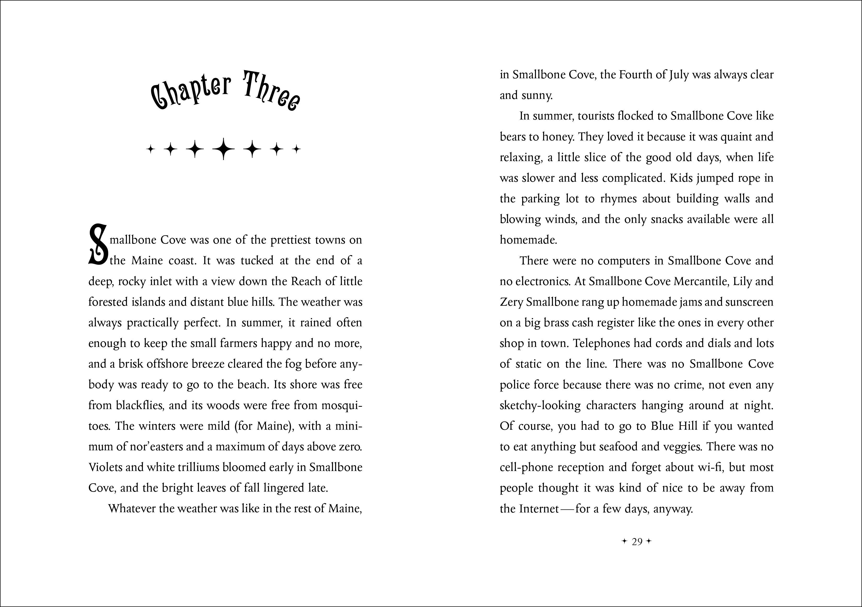 Chapter opener spread for THE EVIL WIZARD SMALLBONE