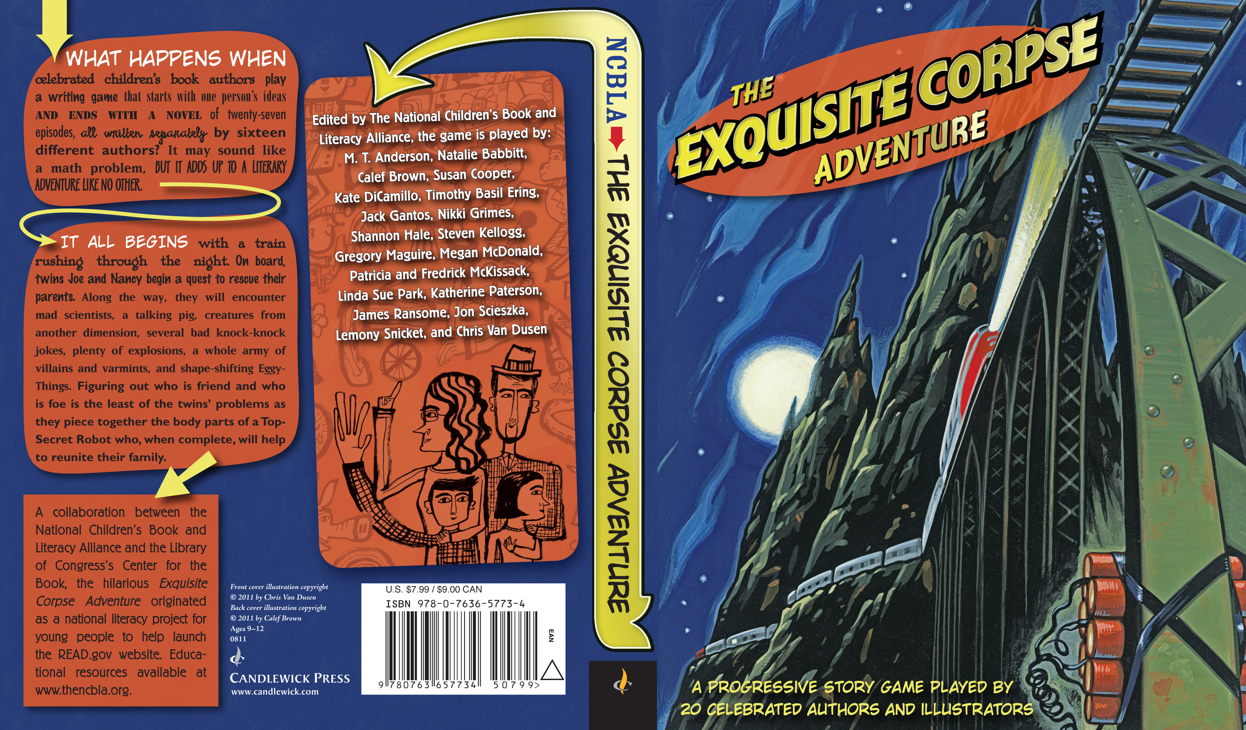 Paperback cover for THE EXQUISITE CORPSE ADVENTURE