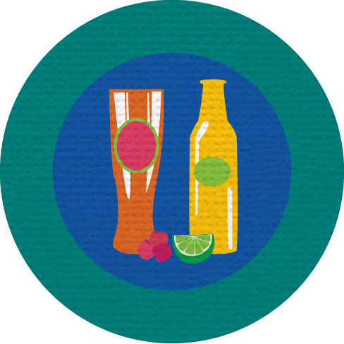 FRUITY BEER MERIT BADGE