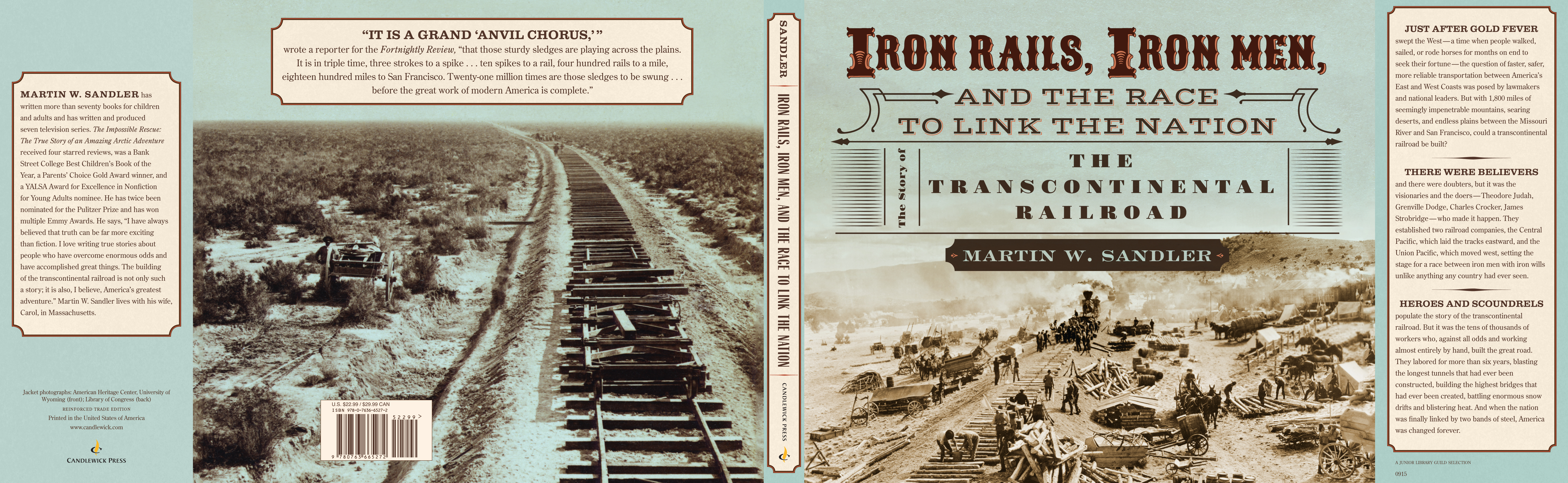 Full jacket for IRON RAILS, IRON MEN, AND THE RACE TO LINK THE NATION