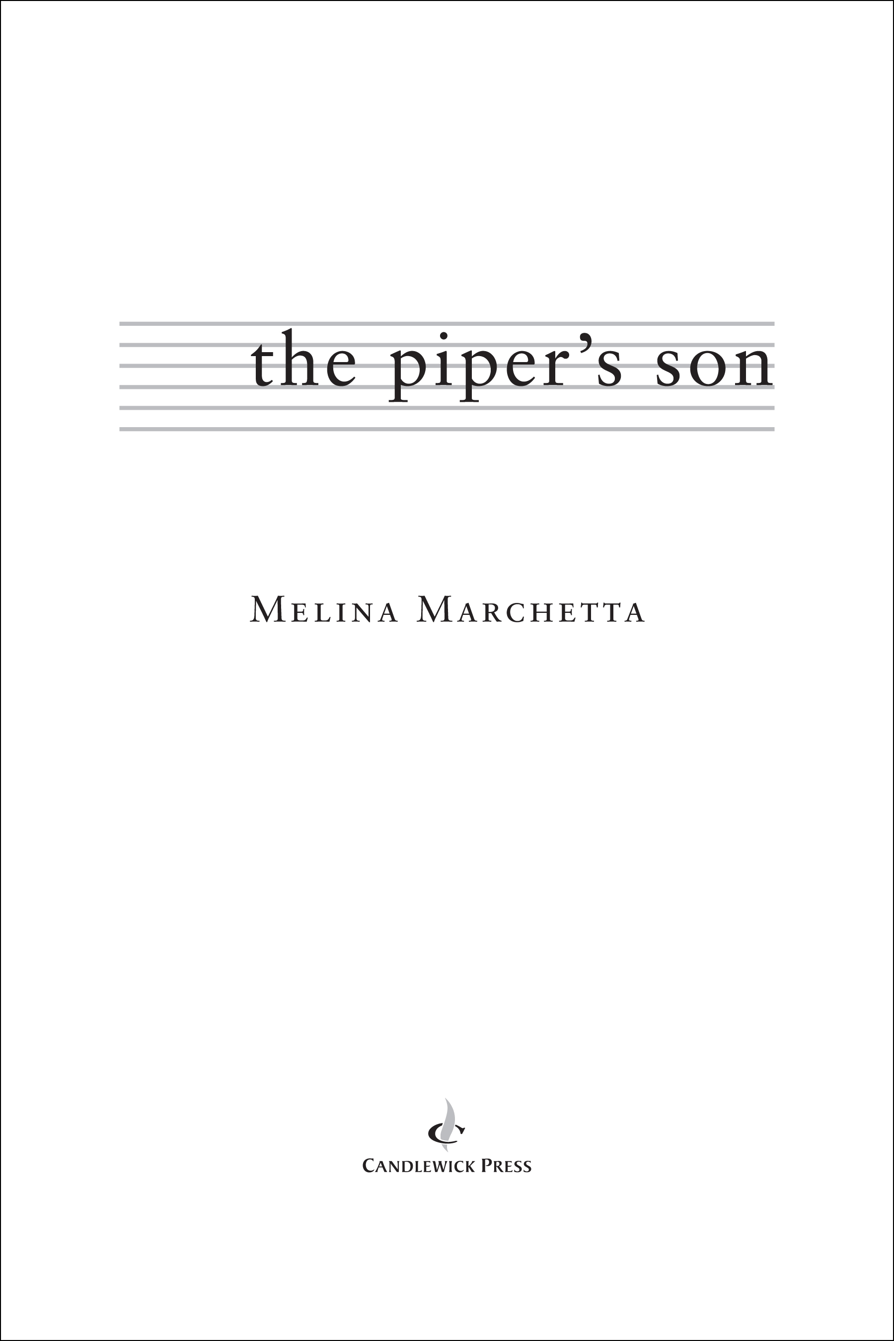 Title page for THE PIPER'S SON