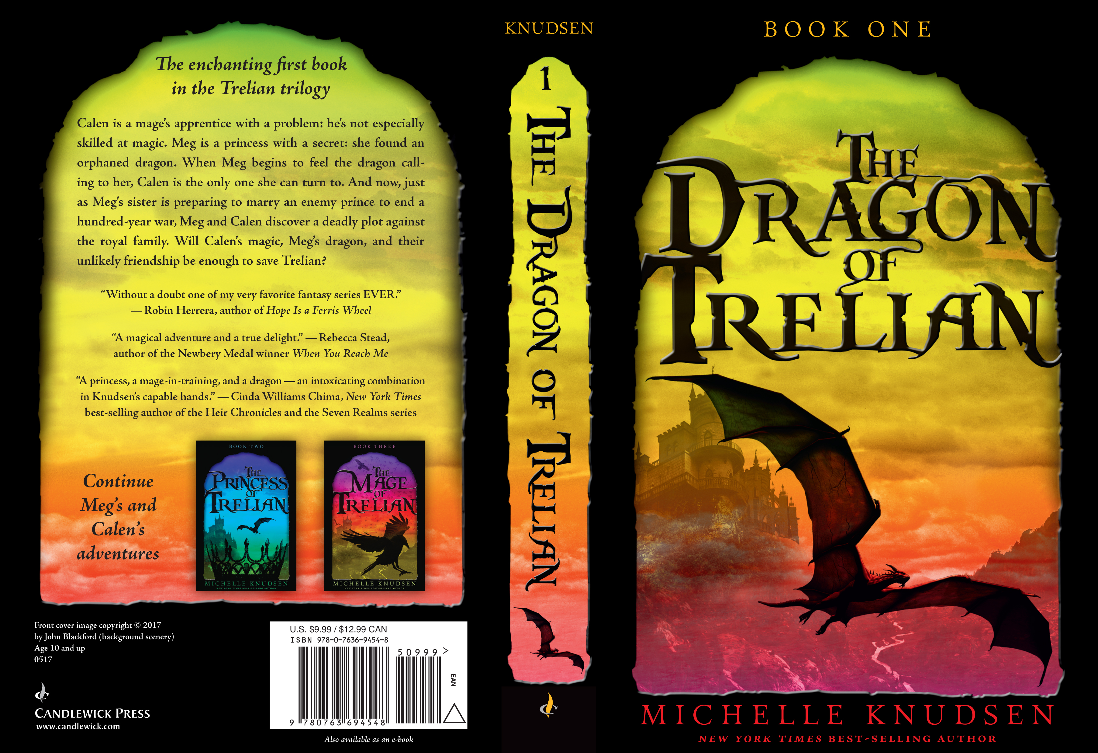 Paperback cover for THE DRAGON OF TRELIAN