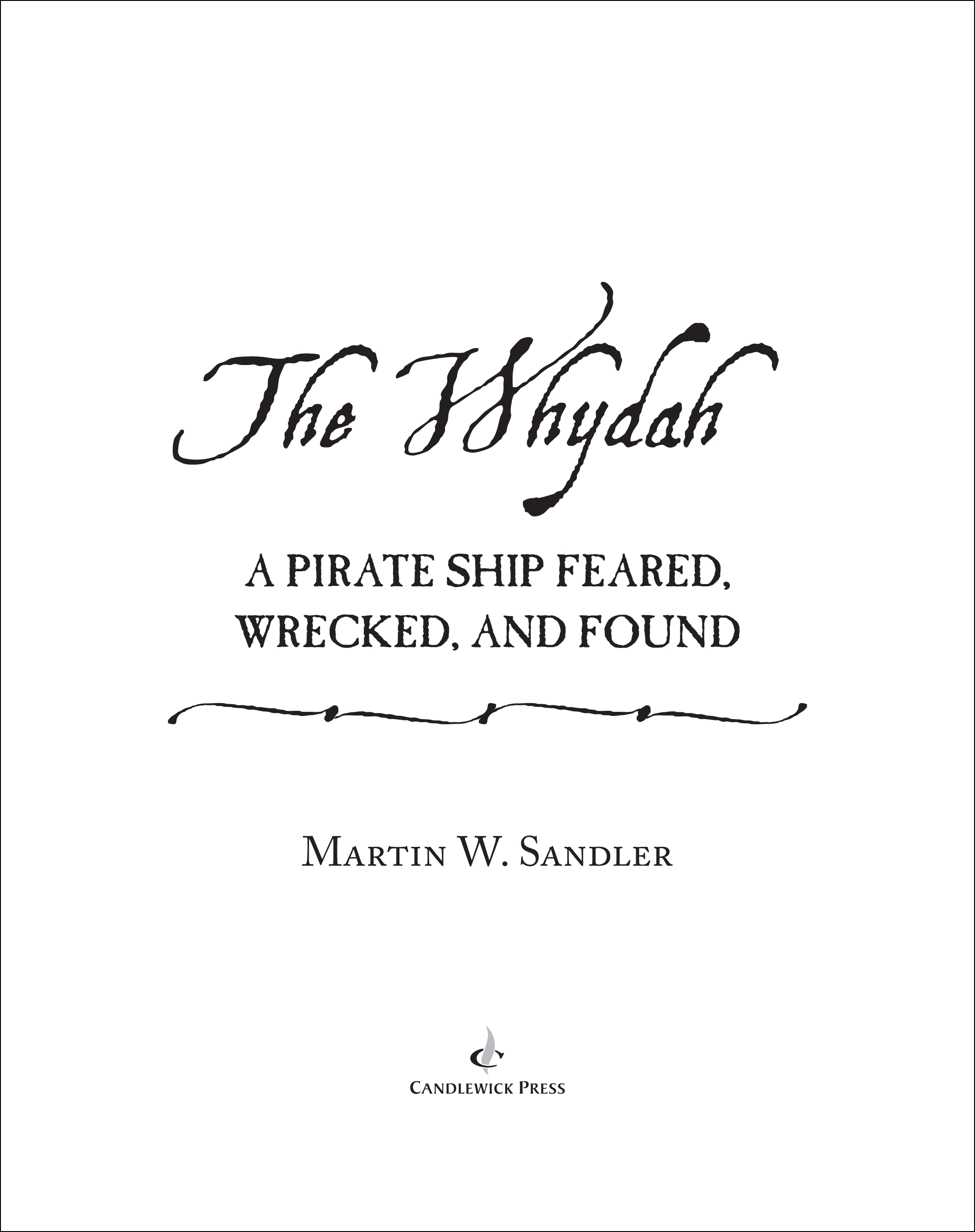 Title page for THE WHYDAH