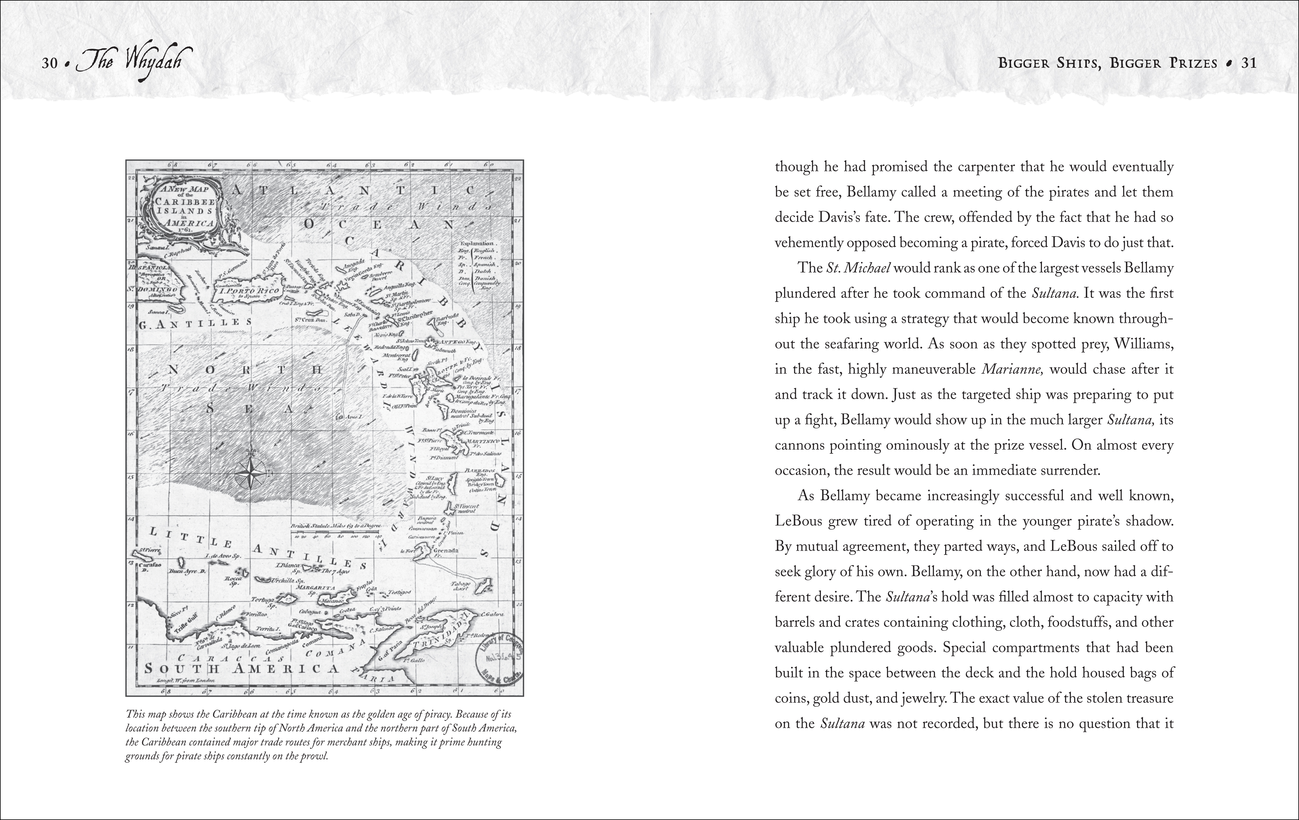 Text spread for THE WHYDAH