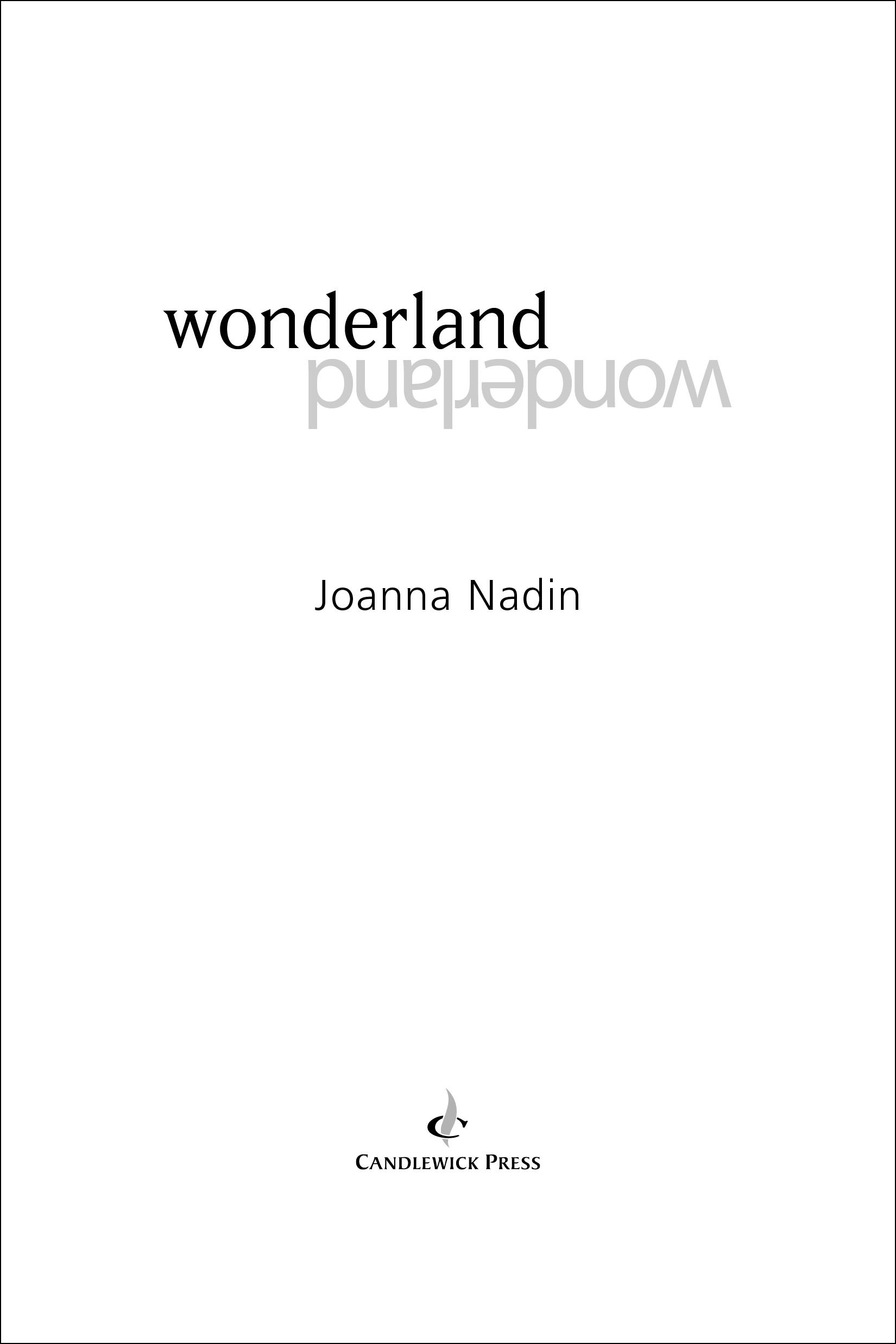 Title page for WONDERLAND