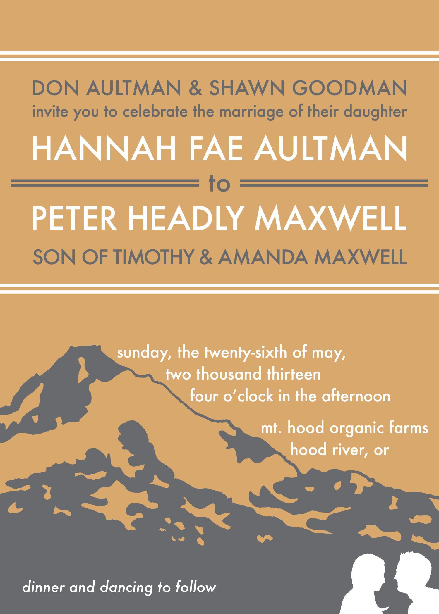 Aultman-Maxwell Wedding, Invitation