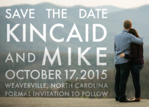 Lowe-Beasley Wedding Save the Date, Front