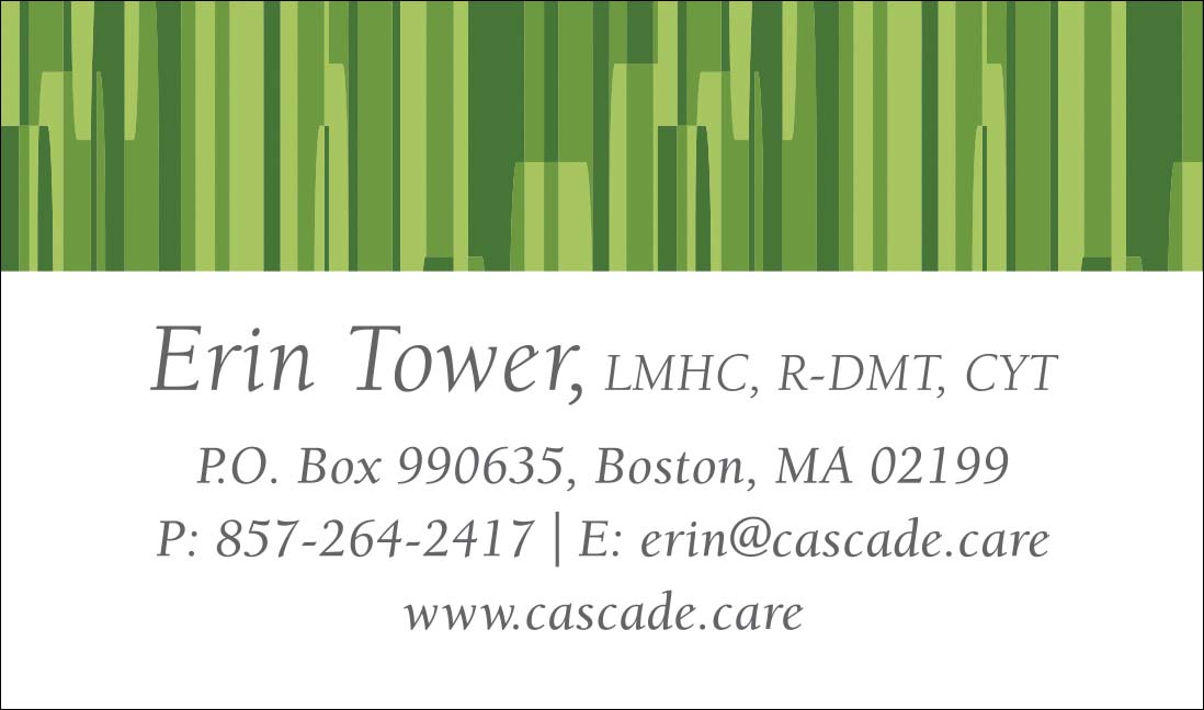 Cascade Counseling & Wellness, Business Card Front
