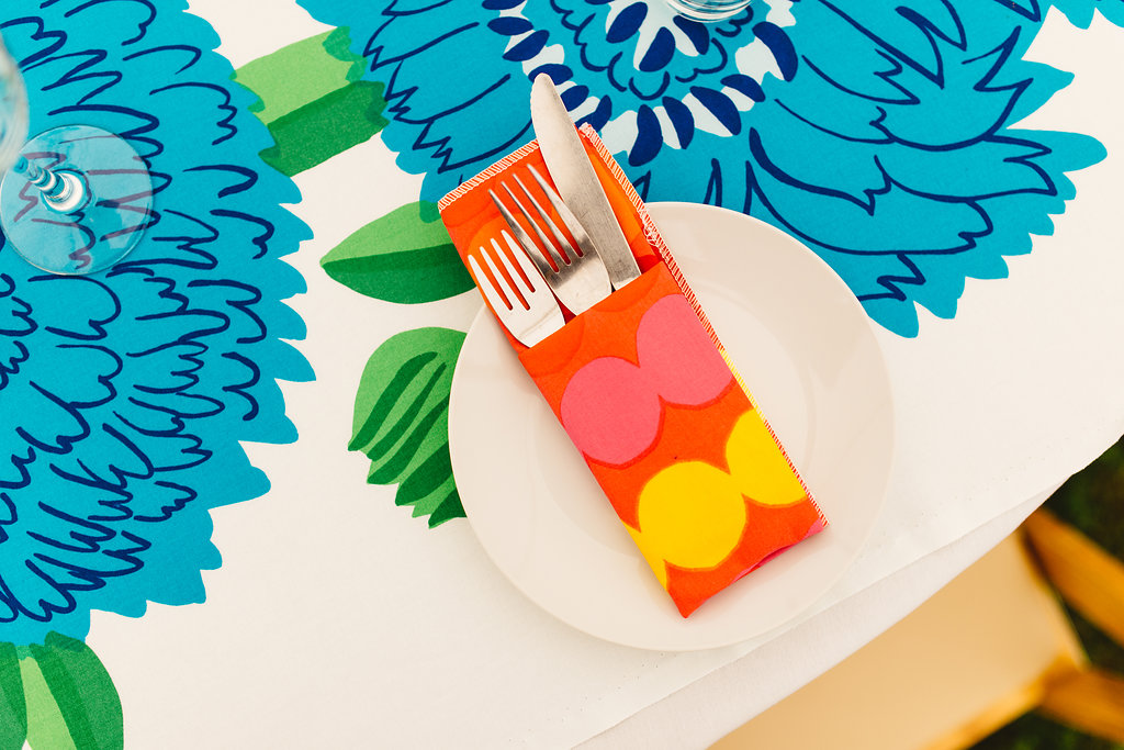 Handmade tablecloths and napkins