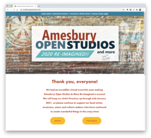 Homepage for AMESBURY OPEN STUDIOS AND MORE RE-IMAGINED